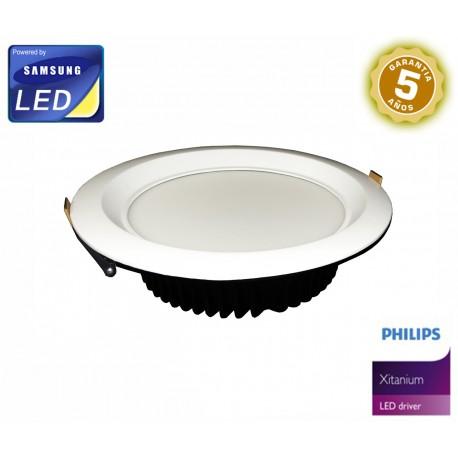Downlight 25W Samsung + Philips Xitanium - Serie White Pro - 5 años Garantía